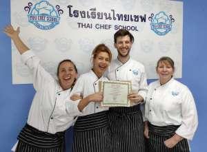 Pastry Class Graduates Thai Chef School
