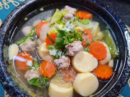 Minced Pork & Egg Tofu Clear Soup