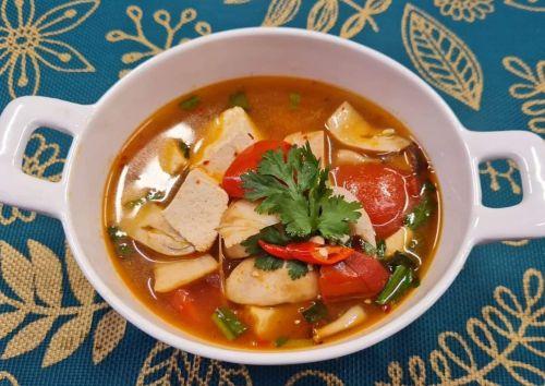 Hot & Sour Clear Mushroom Soup