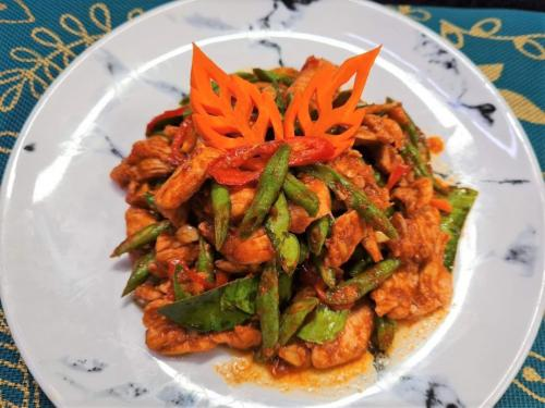 Long Beans & Chicken in Red Curry
