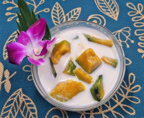 Pumpkin in Coconut Milk (Buat Phak Tong)
