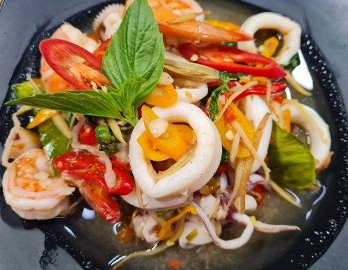 Spicy Seafood with Herbs