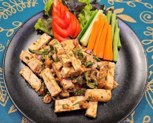 Spicy Tofu Salad (Laab)