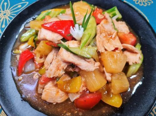 Sweet & Sour Chicken with Vegetab;es