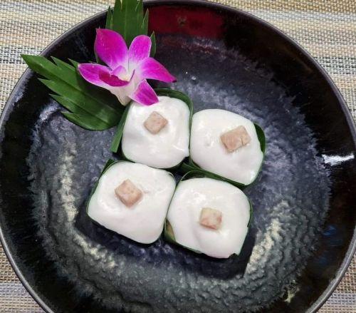 Thai Pudding with Taro (Tako Puak)
